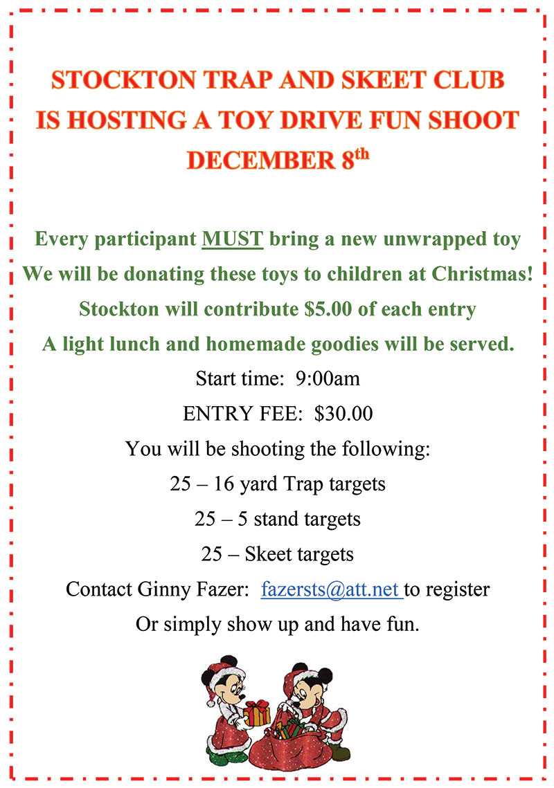 Toy Drive @ Stockton Trap & Skeet Club